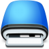 Drive-Floppy-blue icon
