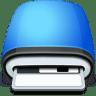 Drive-Floppy-blue icon