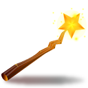 Witch stick icon