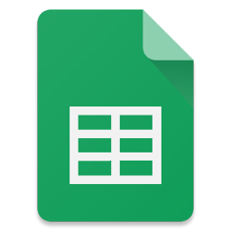 Filetype Sheets icon