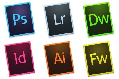 Adobe CC Tilt Rectangle Icons