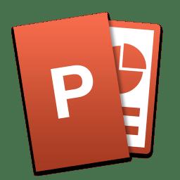 powerpoint icon microsoft office mac tilt iconset ziggy19