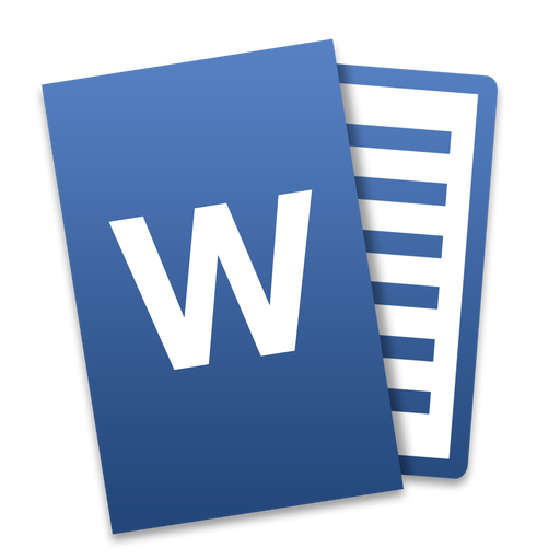 word icon microsoft office mac tilt iconset ziggy19