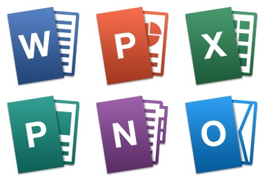 Microsoft Office Mac Tilt Icons