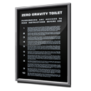 Zero Gravity Toilet Safety Instructions icon