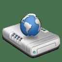 Network drive dark icon