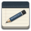 Apps accessories text editor icon