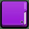 Places-folder-violet icon