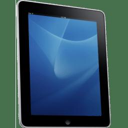 iPad Side Blue Background icon