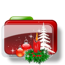 Christmas Folder Candle icon