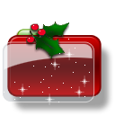 Christmas Folder Holly Stars icon