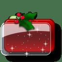 Christmas Folder Holly Stars icon