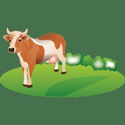 Feeding cattle icon