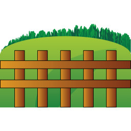 Farm fence icon