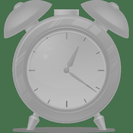Alarm clock disabled icon