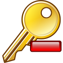 Remove key icon