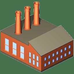Coal power plant icon