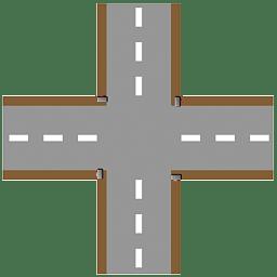 Crossroad plain icon