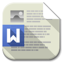 Apps File Word icon