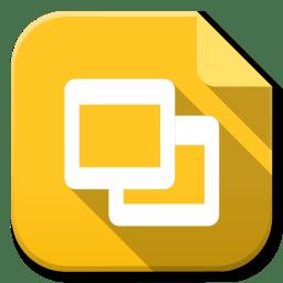 Apps Google Drive Slides Icon Flatwoken Iconset Alecive