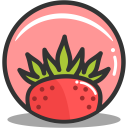 Button strawberry icon
