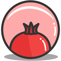 Button pomegrante icon