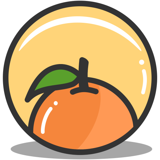 Button-orange icon