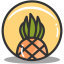Button pineapple icon