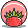 Button-strawberry icon