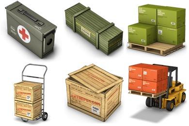 Cargo Boxes Icons