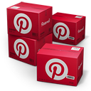 Pinterest Shipping Box icon
