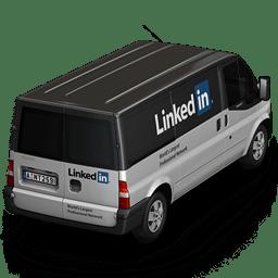 Linkedin Van Back icon