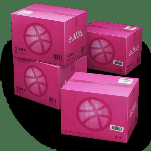 Dribbble-Shipping-Box icon