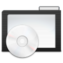 Folder Dark Music icon