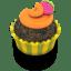 Chocolate Orange Cupcake icon