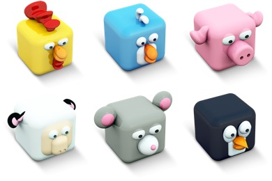Cubed Animals Icons