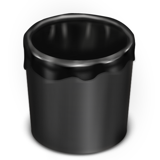 Trash-Black-Empty icon