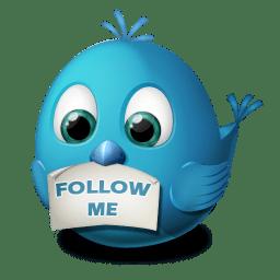 Twitter follow me icon