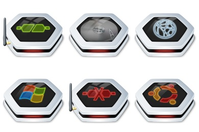 Senary Drive Icons