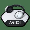 Media music midi icon