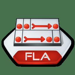 Adobe flash fla icon