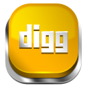 Digg Orange 3 icon
