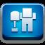 Digg Blue 1 icon