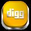 Digg Orange 3 icon