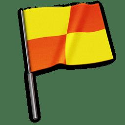 Referee flag icon