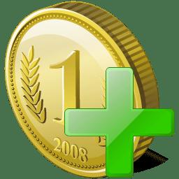 Coin add icon