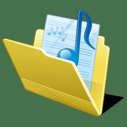 Folder my music icon