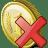 Coin-delete icon