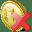 Coin delete icon