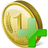 Coin-add icon